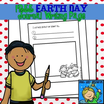 Free Earth Day Journal Writing Page - Teach Easy Resources