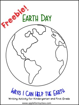 Free Earth Day Printable for Writing in K, first and second grade