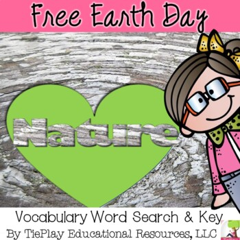 FREE Earth Day Vocabulary Word Search Worksheet and Key