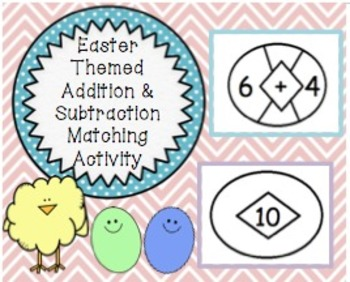 Free Easter Themed Addition & Subtraction Activity