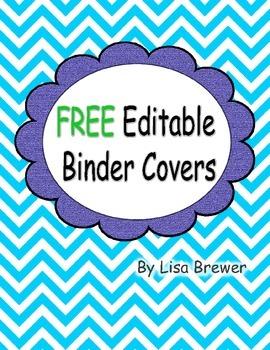 Free Editable Chevron Style Binder Covers