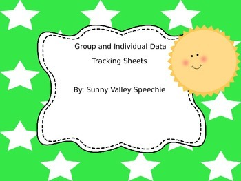 Free Editable Data Tracking Sheets For Speech Therapy