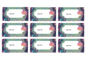 Free Editable Flower Labels