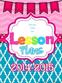 Free Editable Lesson Plan Cover