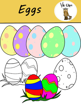 Free Easter Eggs Clip Art
