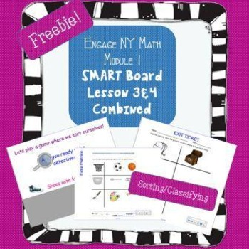 Free Engage NY Math Kindergarten Module 1 Lesson 3&4 for S