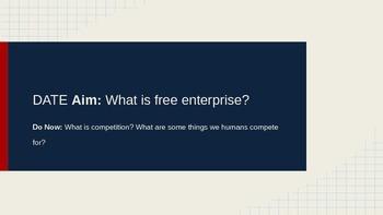 Free Enterprise and Marketing Ad Creation Week