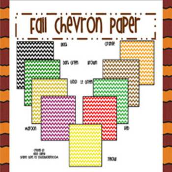 Free: Fall Colors Chevron Papers (Clip Art)