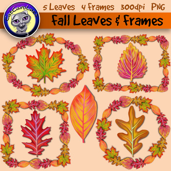 Free Fall Leaves and Frames Clipart