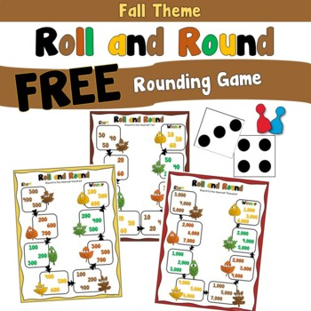 Free Fall Rounding Game using 2 Digit, 3 Digit, or 4 Digit