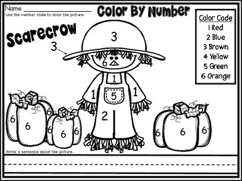 Free Fall Scarecrow part of my Color By Number November Th