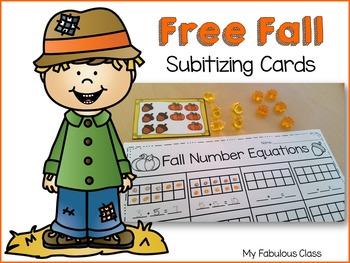 Free Fall Subitizing Cards