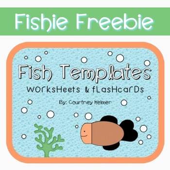 Free Fish Templates for Worksheets & Flashcards