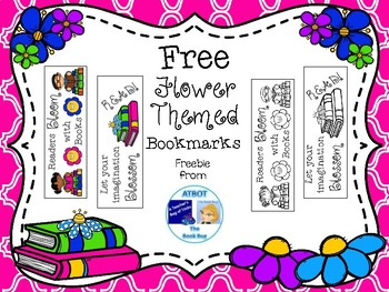 Free Flower Themed Bookmarks