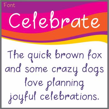 Free Font: Celebrate (True Type Font)