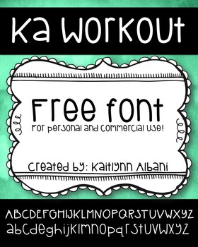 Free Font - KA Work Out