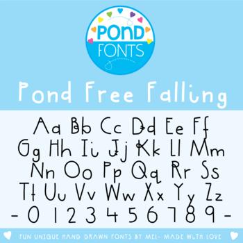 Free Font - Pond Free Falling