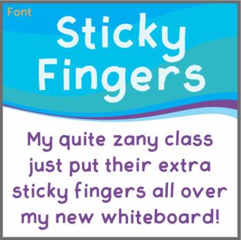 Free Font: Sticky Fingers (True Type Font)