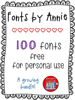 Free Fonts by Annie - Personal & Non-Commercial Use