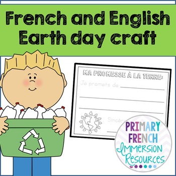 Earth day craft - French and English