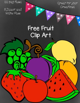 Free Fruit Clip Art ~ Black and White Master Copies Includ