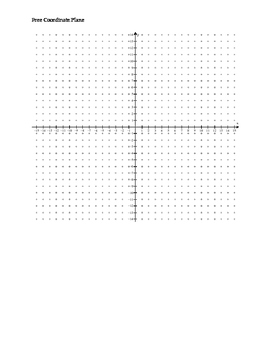 Free Full Page Coordinate Plane