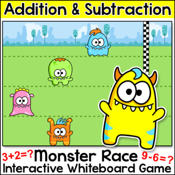 Free Game! Monster Race Addition and Subtraction Game for