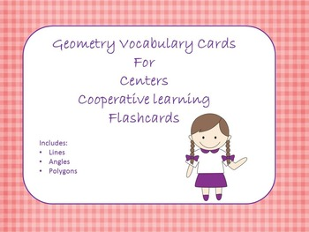 Free Geometry Vocabulary Cards for Centers, Cooperative Le