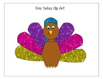Free Glitter Turkey Clip Art