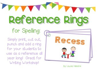Free! Reference Ring for Spelling: RECESS