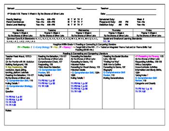 Houghton Mifflin 4th Grade Reading Lesson Plans-Shores of
