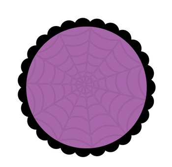 Free Halloween Scallop Circles Clipart