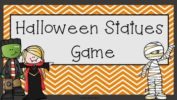 **Free** 'Halloween Statues' Game Instructions- Happy Halloween!!