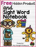 Free Hidden Product and Sight Word Notebook