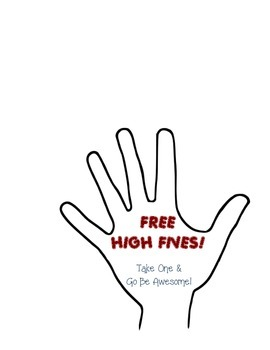 Free High Fives Kid President Poster