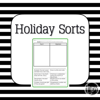 Holiday Fact or Opinion Sort