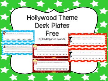 Free Hollywood Desk Plates