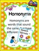 Free Hoot Owl Homonyms: Multiple Meaning Words- Speech Therapy