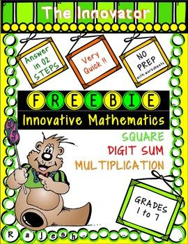Free Innovative Mathematics Pack - Square, Digit Sum, Mult
