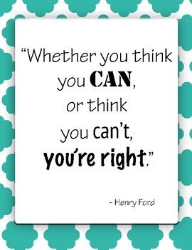 Free Inspirational Poster - You Can! You Choose!