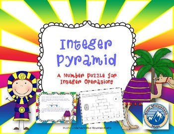 Free Integer Addition and Subtraction Pyramid