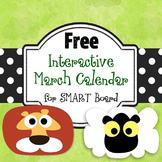 Free SMART Board March Calendar, 2014-2016, Student PDF
