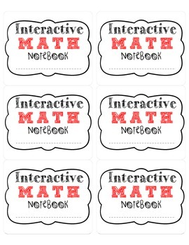 Free Interactive Math Notebook Labels