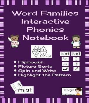 Free Interactive Phonics Notebook Word Families 1 week/ 4