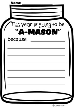Free Jar Writing Prompt...Great for Beginning of year!