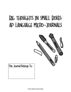 Free Journal Template for AP Language--Weekly Spread with Cover