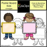 Poster Board Kids {Educlips Clipart}