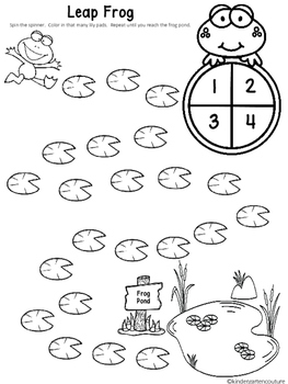 Free Leap Frog - A Spin And  Count Game