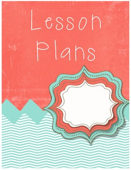 Free Lesson Plan Cover Sheet