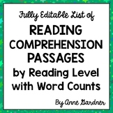 Free Listing of Reading Comprehension Passages by Guided R